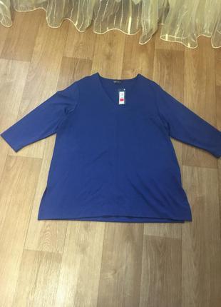 Батал большой размер новая натуральная стильная блуза блузка блузочка кофта кофточка