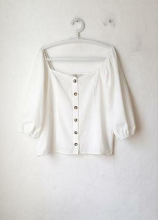1+1=3 кремовая хлопковая блуза