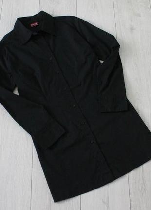 Черная, удлиненная рубашка biaggini