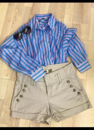 Шорти джинсові, молочного кольору, розмір s/36