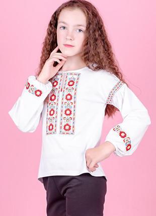 Вишиванка для дівчаток-підлітків, біла