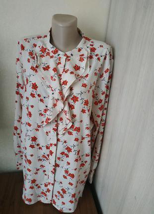 Класна жіноча легка блуза з квітковим принтом ann taylor/женская блуза/блузка