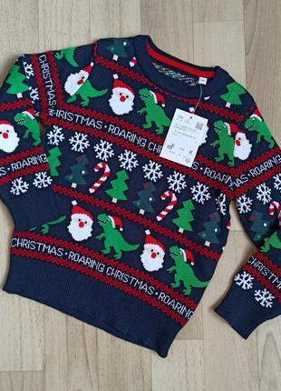 Новорічний дитячий светр c&a на зріст 104  см.