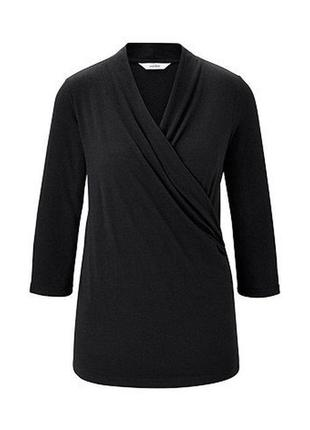 Блузка трикотажная с запахом размер 46-50 наш tchibo тсм