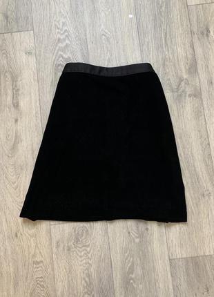 Брендовая юбка бархатная