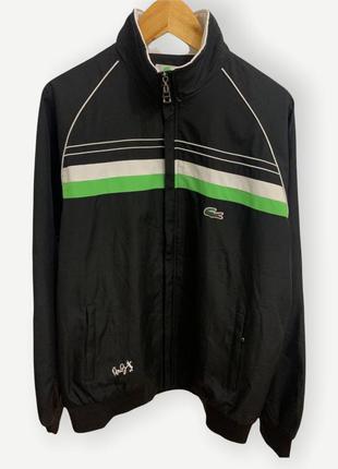 Куртка вітровка ветровка олимпийка lacoste чорная чоловіча