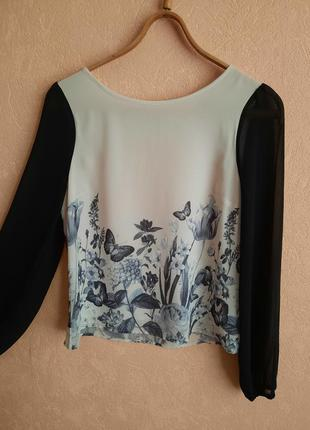 1+1=3 нарядная блуза на подкладке