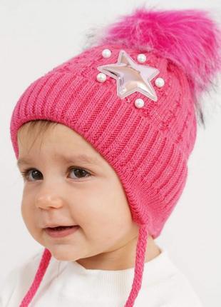 Нежные шапочки для девочек