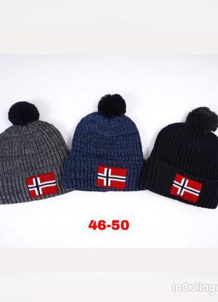 Стильные шапки на флисе для мальчиков