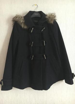 Шерстяное демисезонное пальто topshop