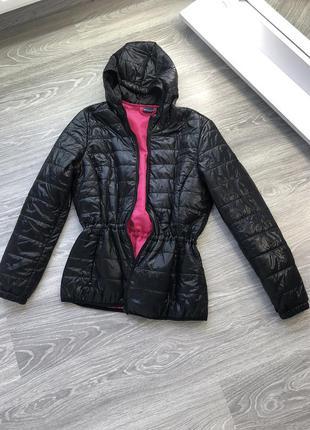 Стёганная куртка ветровка чёрная