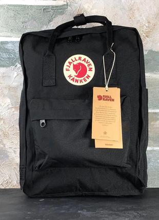 Рюкзак fjallraven kanken black 16l наплічник канкен 16 літрів черный рюкзак
