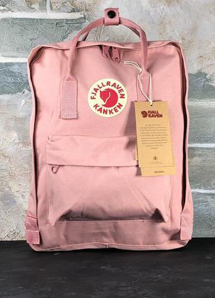 Рюкзак fjallraven kanken pink 16l наплічник канкен 16 літрів розовый рюкзак