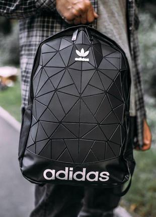 Рюкзак adidas bags mate black 22l наплічник адидас 22 літрів матовый черный рюкзак