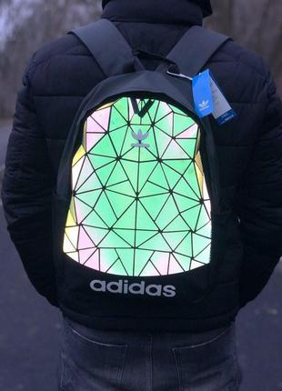 Рюкзак рефлективный adidas bags reflective 22l наплічник адидас 22 літрів светоотражающий рюкзак