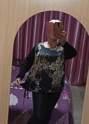 Вискозная блузка кофта 58, турция батал