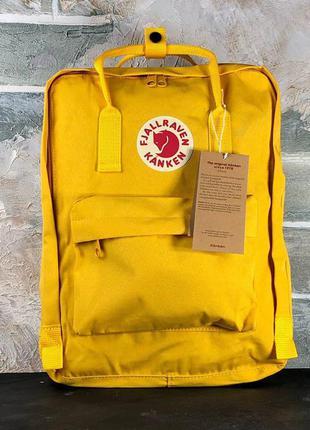 Рюкзак fjallraven kanken yellow 16l наплічник канкен 16 літрів желтый рюкзак