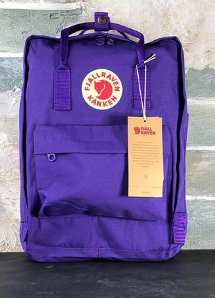 Рюкзак fjallraven kanken purple 16l наплічник канкен 16 літрів фиолетовый рюкзак