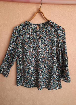 1+1=3 яркая цветастая блуза