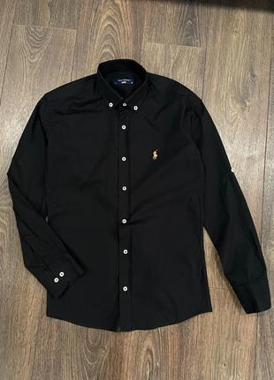 Черная рубашка  ralph lauren