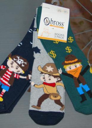 Набор 3 шт махровые носки 5-7 лет bross бросс ковбой пират