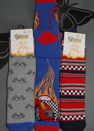 Набор 3 шт махровые носки 7-9 лет bross бросс машинка формула