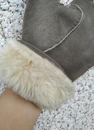 Рукавицы перчатки  теплые.натуральная овчина
