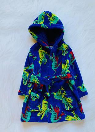 Bluezoo классный  плюшевый халат на мальчика 12-18 мес