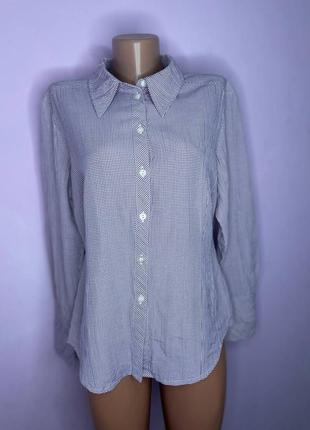 Сиреневая рубашка в клетку heine