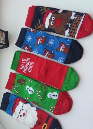 Новорічні дитячі  шкарпетки c&a.
