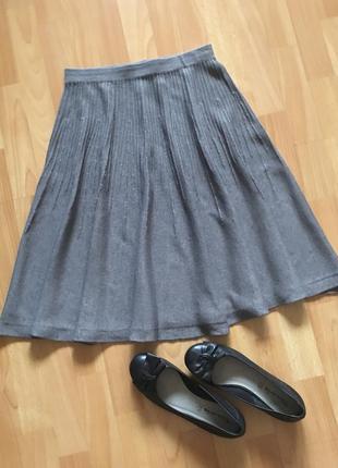 Доступно - актуальная трикотажная юбка *h&m* р. s - 30% шерсть