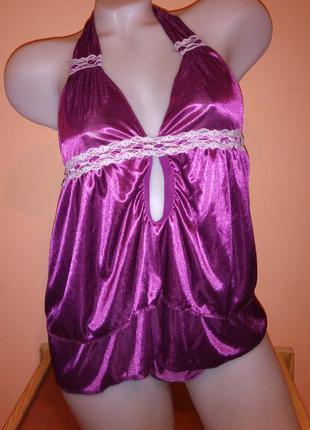 Арт. 111 ночнушка-пеньюар с трусиками, женское эротическое сексуальное белье подарок девушке