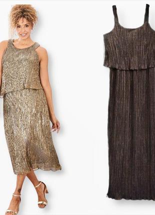 Роскошное вечернее золотистое платье
