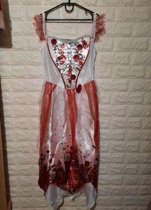 Карнавальный костюм, платье санта муэрта, хеллоуин, пиратка