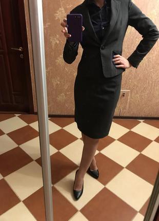 Серый пиджак h&m