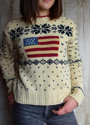 Polo sport ralph lauren sweater flag 90's