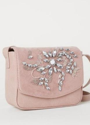 Новая сумочка клатч эко замша+кож.зам