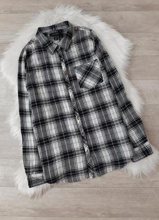 Рубашка черно-белая в клетку atmosphere