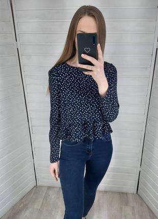 Темно - синяя блузка h&m