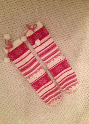 Тёплые носки домашние тапочки