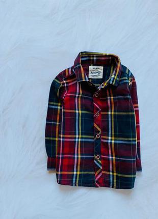Next  новая  стильная рубашка на мальчика 9-12 мес