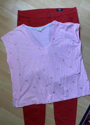 Котоновая футболка батал boden