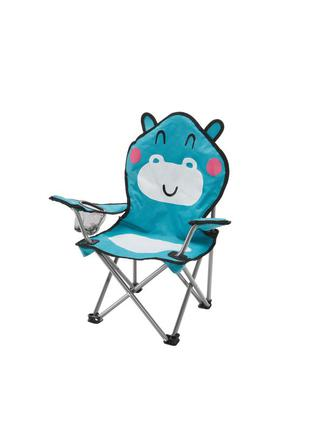 Детский складной стул/кресло crivit с подстаканником, раскладное кемпинговое кресло для пикника