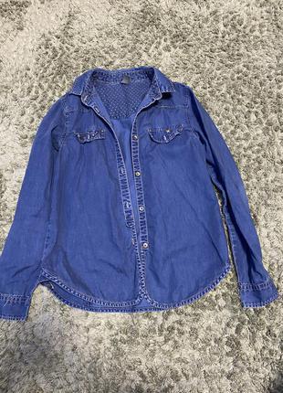 Сорочка джинсова zara