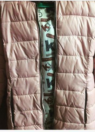 Куртка розовая зима-осень