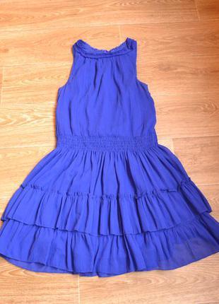 Летнее шифоновое платье zara