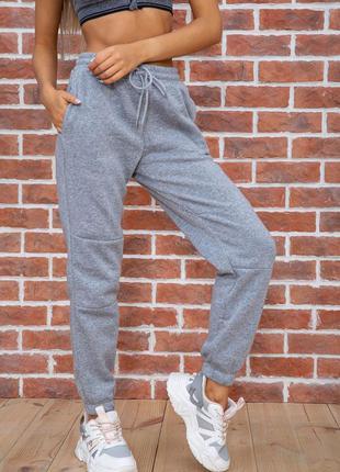 Базовые серого цвета штаны флис , джогеры- xl l