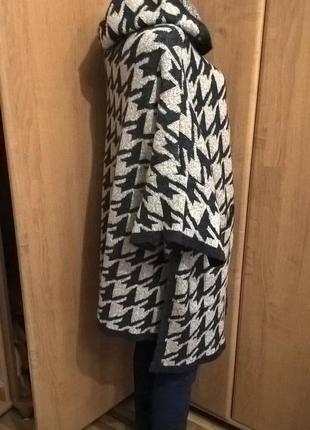 Вязанный демисезонный кардиган пальто zara knit р.m
