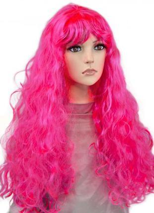 Парик маскарадный яркий волнистые длинные волосы 75см +подарок