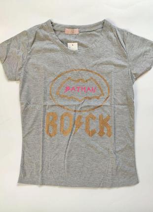 Женская футболка batman серая, размер s